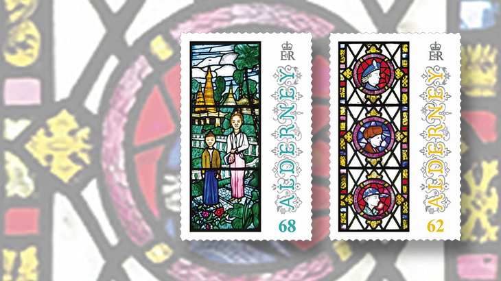 new-stamps-of-the-world-stained-glass-alderney-st-annes-church