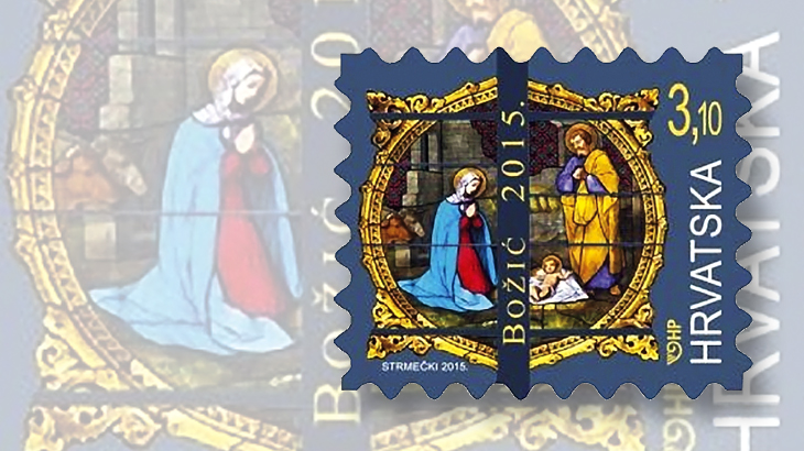 new-stamps-of-the-world-stained-glass-croatia-nativity-zagreb-cathedral