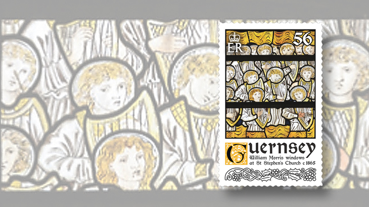 new-stamps-of-the-world-stained-glass-guernsey-william-morris
