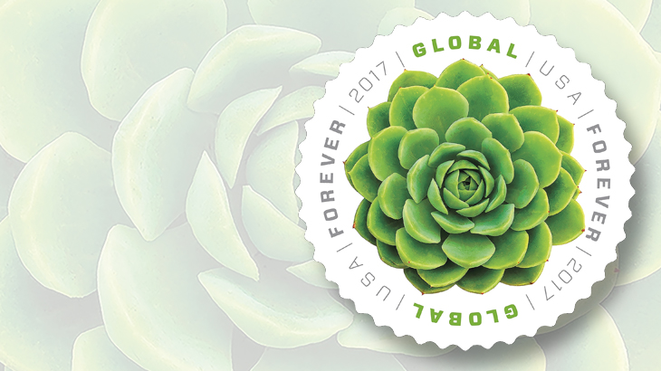 The Newest Round Global Forever Stamp Features The Succulent