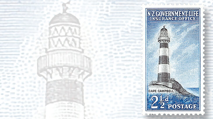 new-zealand-cape-campbell-lighthouse-stamp