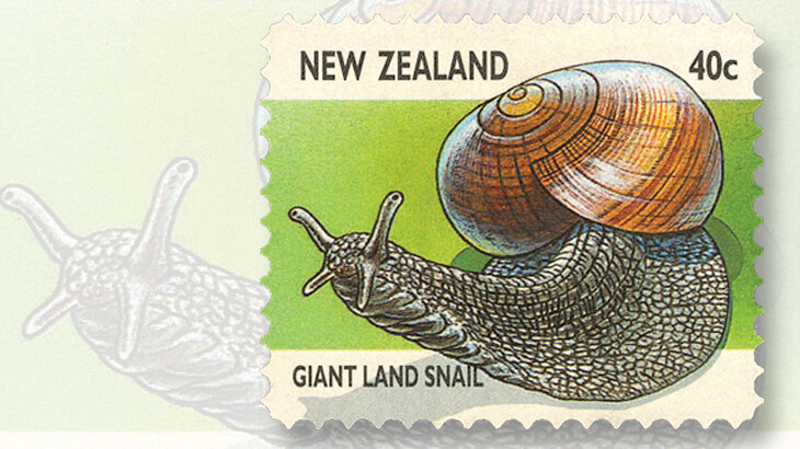 new-zealand-giant-land-snail-stamp