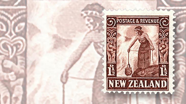new-zealand-tiki-maori-stamp-1935-hot-springs
