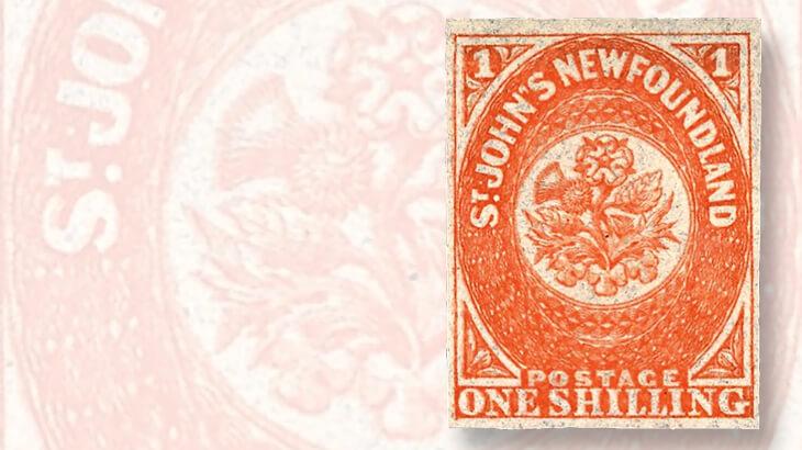 newfoundland-1-shilling-orange-stamp-linns