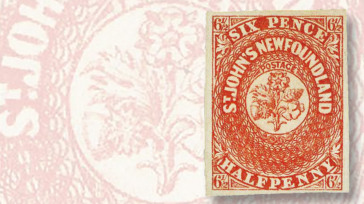 newfoundland-1857-six-half-penny-stamp
