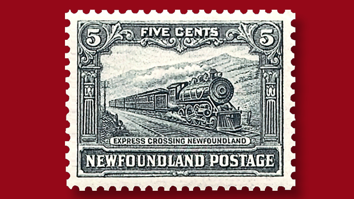 newfoundland-1928-five-cent-express-crossing-stamp