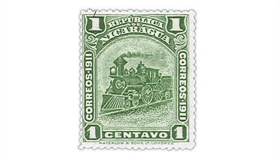 nicaragua-zelaya-province-locomotive-stamp