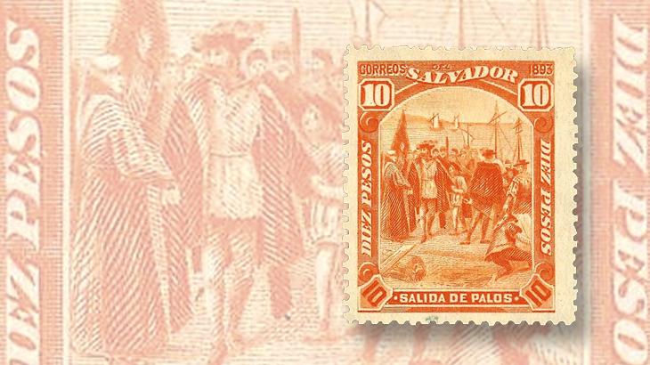 nicholas-seebeck-el-salvador-1893-christopher-columbus-stamp