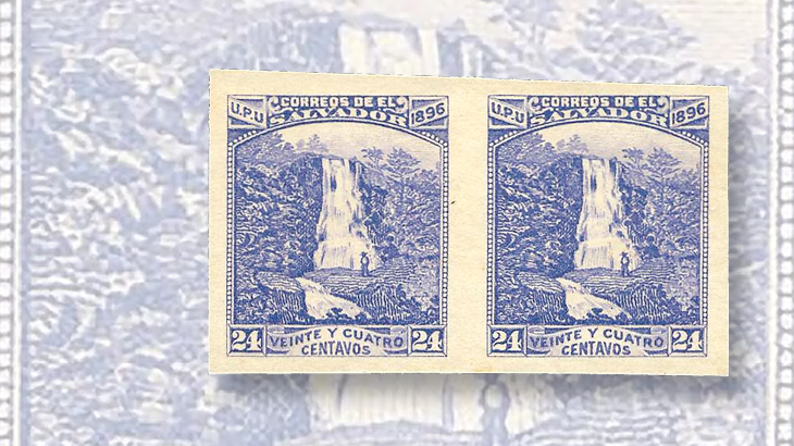 nicholas-seebeck-el-salvador-1896-atehausillas-waterfall-imperforate-pair