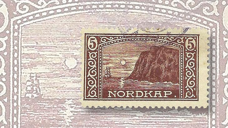 nordic-stamp-scene-norway-north-cape-postcard-label