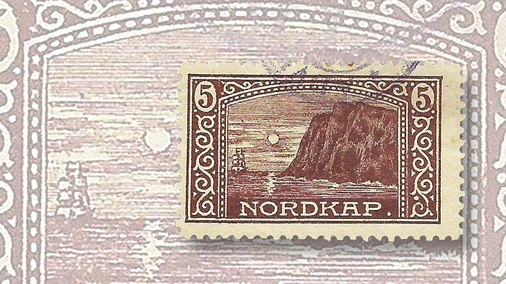 nordic-stamp-scene-norway-north-cape-postcard-label