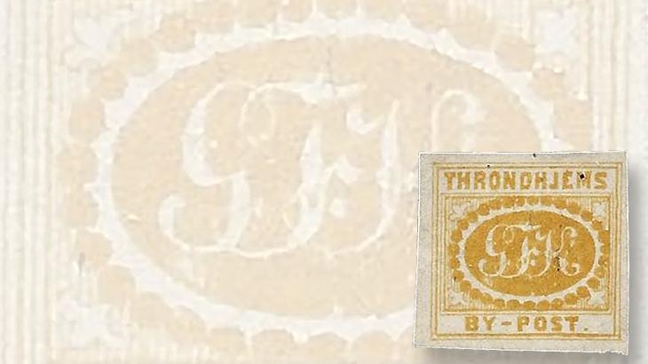 nordic-stamp-scene-trondheim-norway-by-post-local-post-georg-krogh-mongram