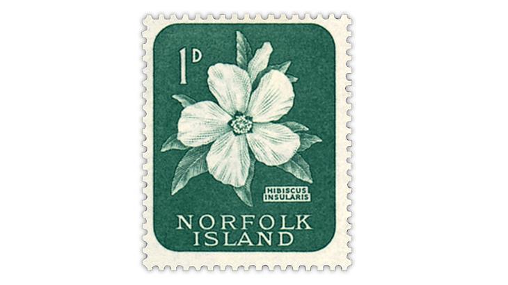 norfolk-island-hibiscus-flower-stamp
