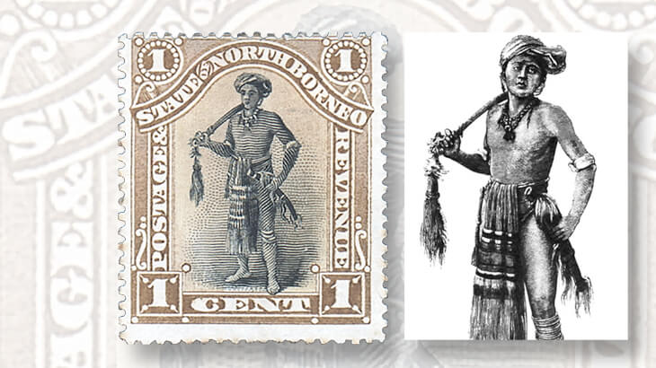 north-borneo-dyak-chieftain-stamp