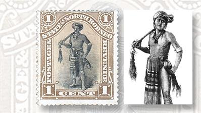 north-borneo-dyak-chieftain-stamp