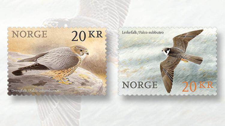 norway-birds-series-2017-stamps