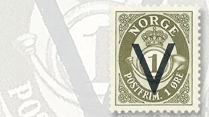 norway-definitive-germany-v-overprint