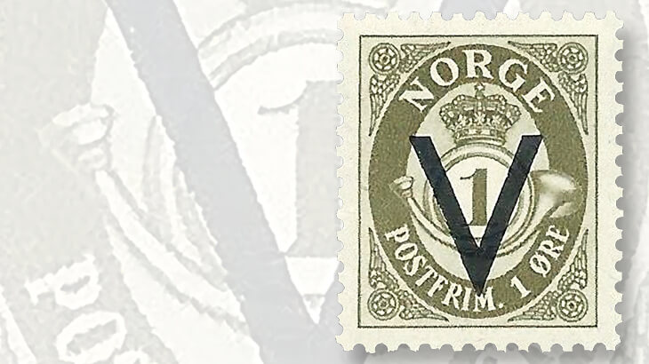 norway-definitive-germany-v-overprint