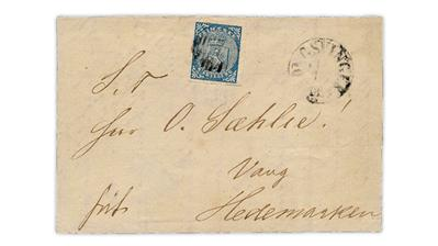 norway-first-stamp-issue-cover