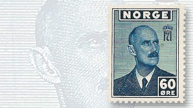 norway-king-haakon-vii-stamp