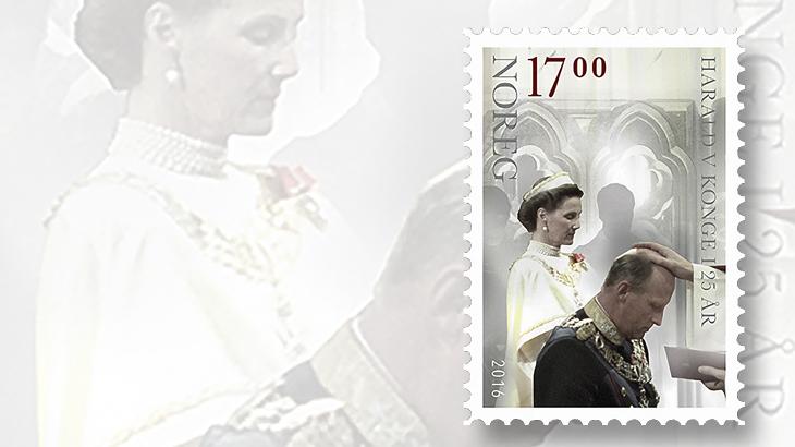 norway-king-harald-v-royalty-stamp
