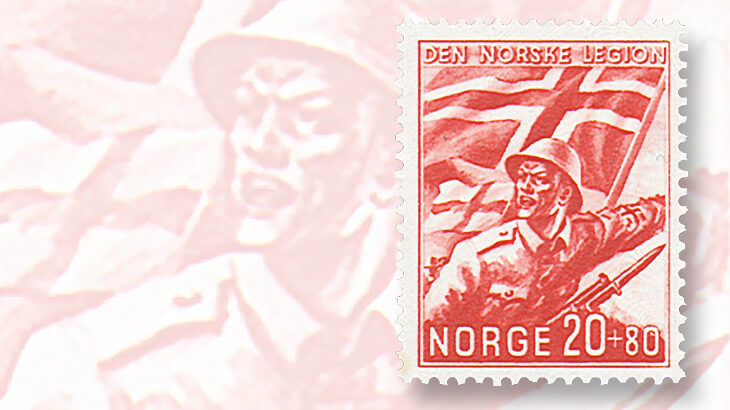 norwegian-legion-semipostal-stamp