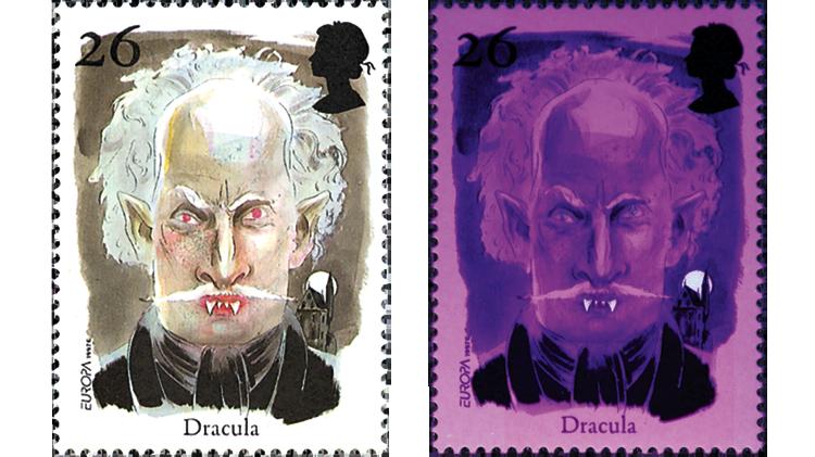 novelty-stamps-great-britain-dracula-phosphor-teeth-moon-1997