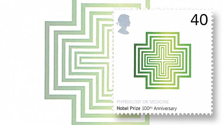 novelty-stamps-great-britain-nobel-prize-eucalyptus-fragrance-2001