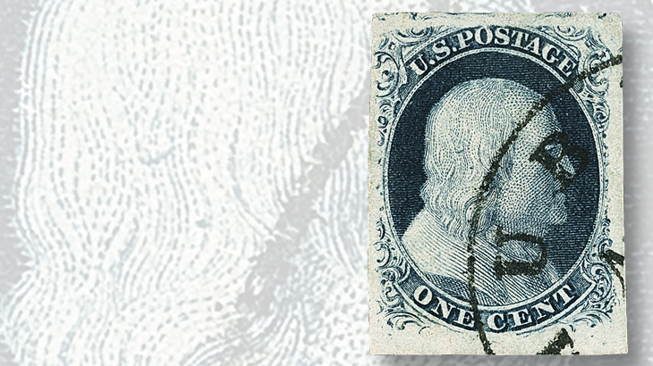 one-cent-blue-franklin-type-iii-stamp