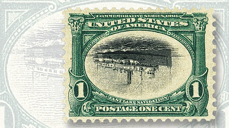 one-cent-pan-american-exposition-invert-of-1901-graded-extremely-fine-90