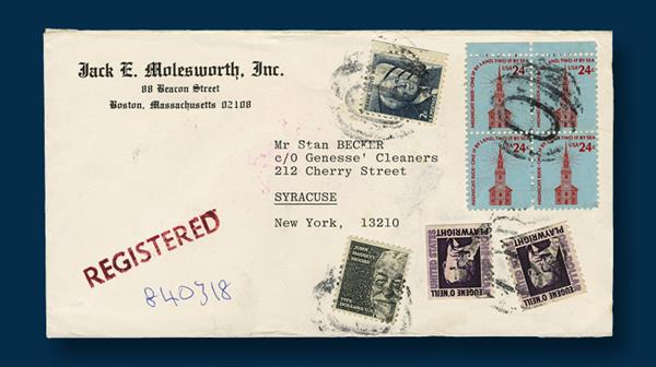 one-dollar-eugene-oneill-stamps-syracuse-cover