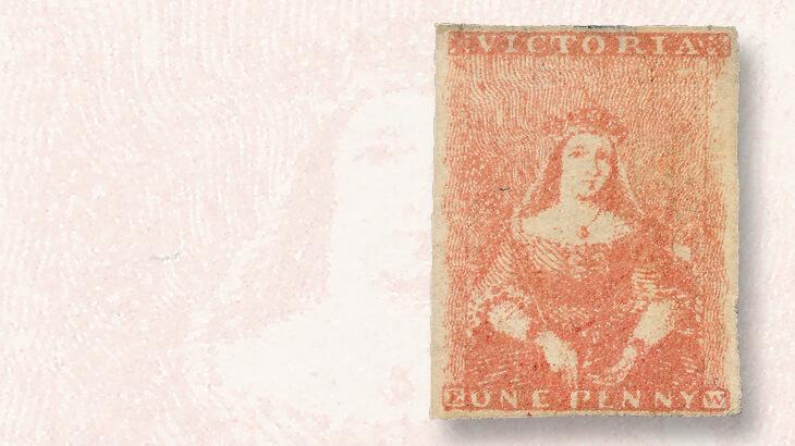 orange-red-victoria-1d-stamp