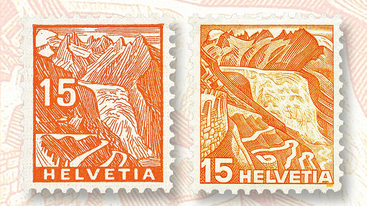 orange-rhone-glacier-stamps