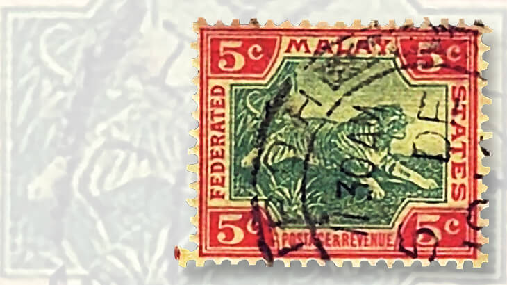 original-1901-malayan-tiger-stamp