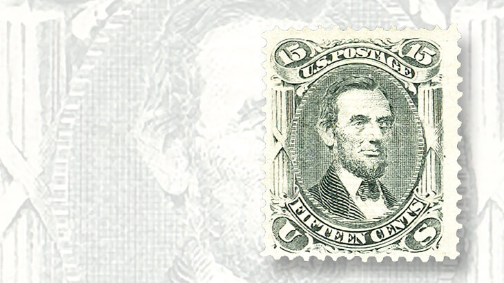 original-gum-15-cent-1867-lincoln-stamp