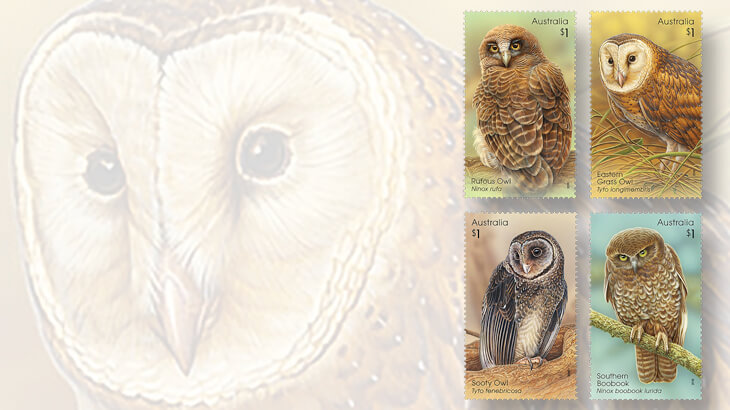 owls from around the world pictured on new stamps linns com
