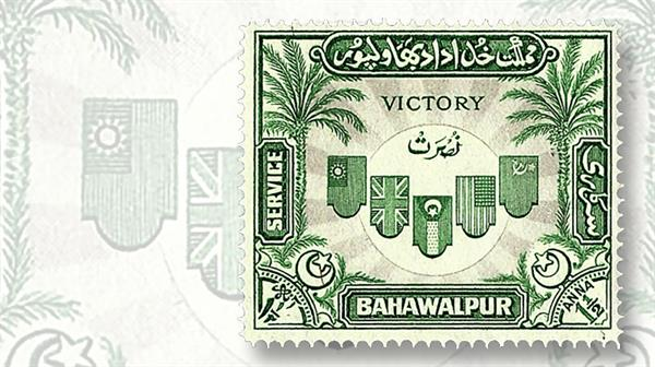 pakistan-bahawalpur-flags-allied-nations-official-stamp