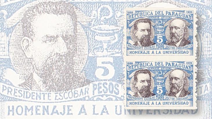 paraguay-university-of-asuncion-imperforate-horizontal-pair-1940