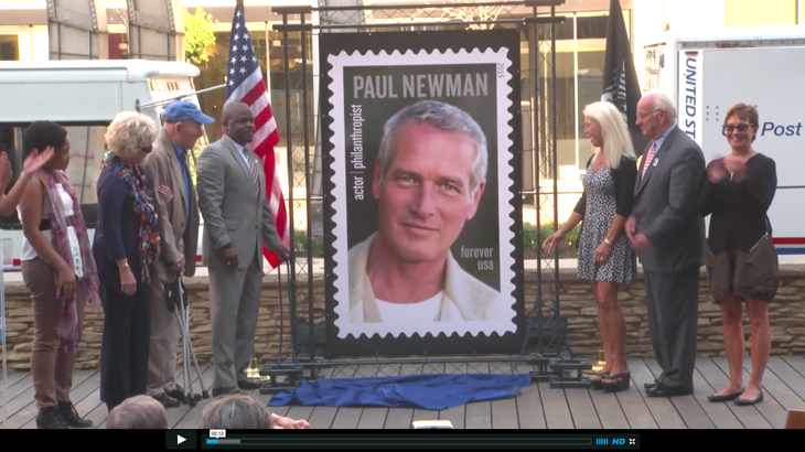 Watch The USPS Unveil Its New Paul Newman Stamp