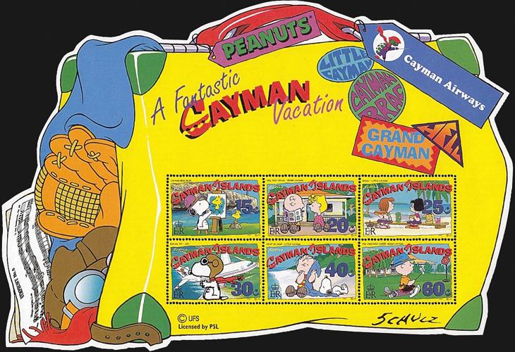 peanuts-cayman-islands-souvenir-sheet