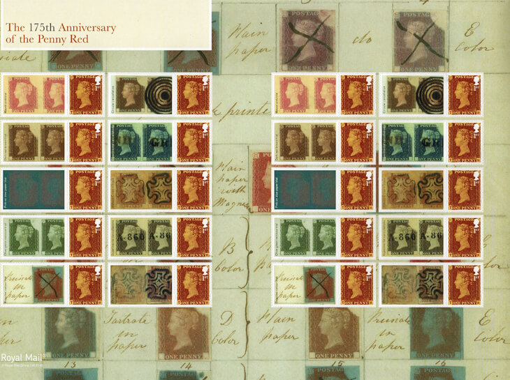 penny-red-175th-anniversary-sheet