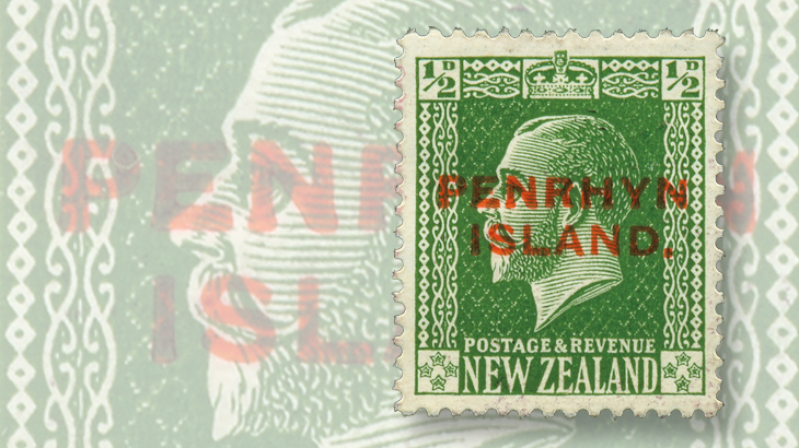 penrhyn-island-new-zealand-george-v-overprint-surcharge-1917