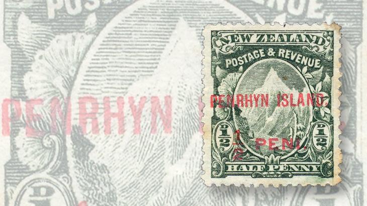penrhyn-island-new-zealand-mount-cook-surcharge-overprint-1902