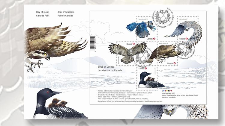 perforated-five-stamp-birds-canada-souvenir-sheet