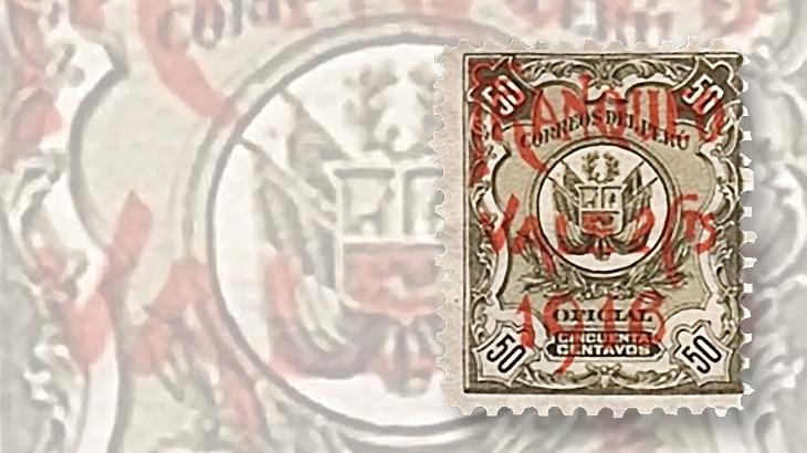 peru-overprint-surcharge-stamp-1916