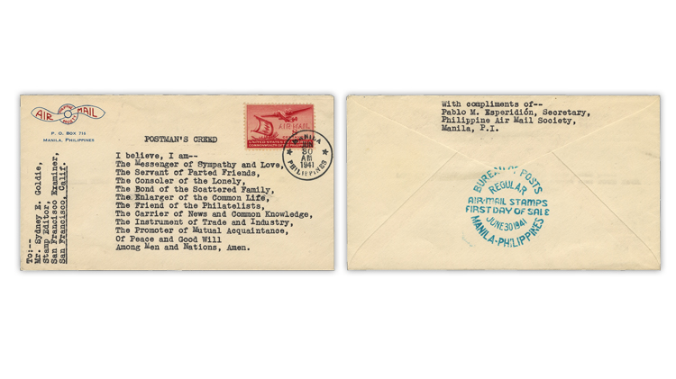 philippines-1941-postmans-creed-first-day-cover