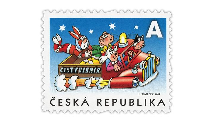 pig-stamp-czech-republic