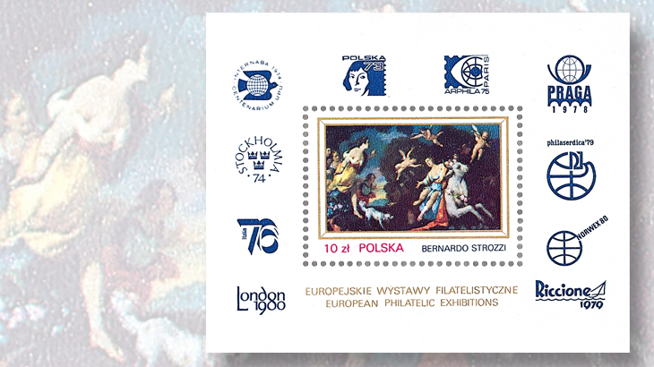 poland-1-zloty-one-stamp-souvenir-sheet