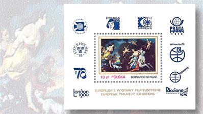 poland-1-zloty-one-stamp-souvenir-sheet