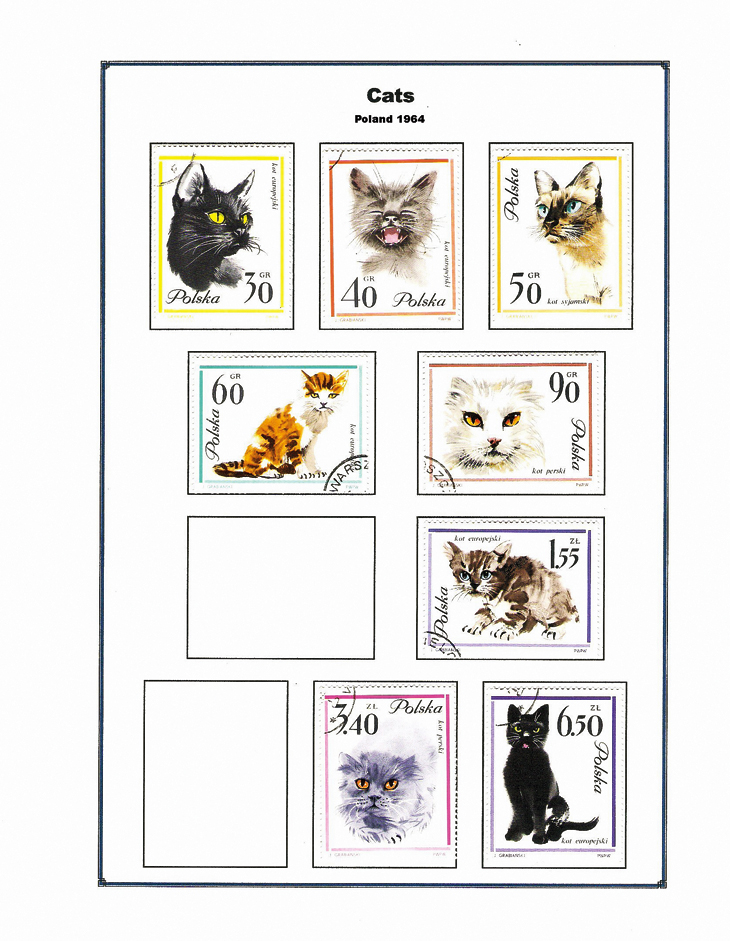 poland-1964-cats-stamps-album-page-microsoft-publisher